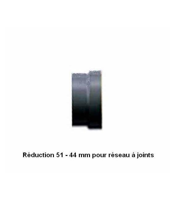 Réducteur 51 - 44 mm pour réseau aspiration à joints