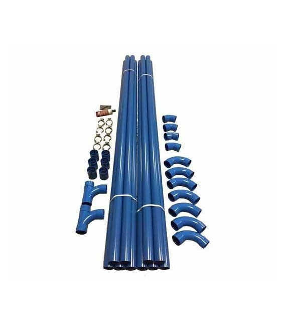 Kit réseau PVC 20 m tubes diamètre 50 mm