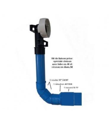 Kit de liaison PVC 90° 40F / 50 F