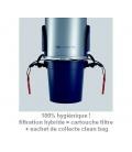 Cuve avec Clean Bag pour 100% hygiène au vidage