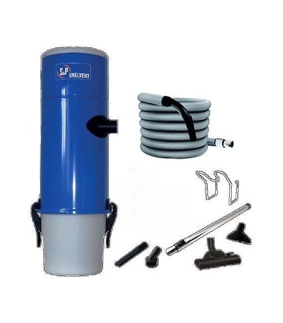 Kit Centrale d'Aspiration Saphir 250 Unelvent - 504 Air Watts - jusqu'à 200 m²
