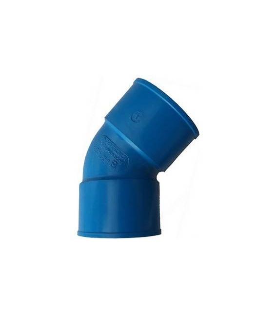 Coude PVC 45° diam 63 mm aspiration centralisée