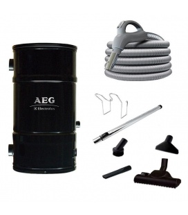 Pack aspiration centralisée 180 m² AEG 262IG flexible inter + 3 prises + 1 prise service + 1 kit PVC 20 M