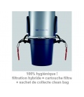 Clean bag sur la centrale TP4 filtration hybride + flexible 9M variateur + set Confort