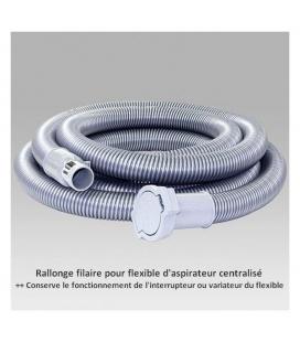 Rallonge filaire de flexible pour aspirateur centralisé