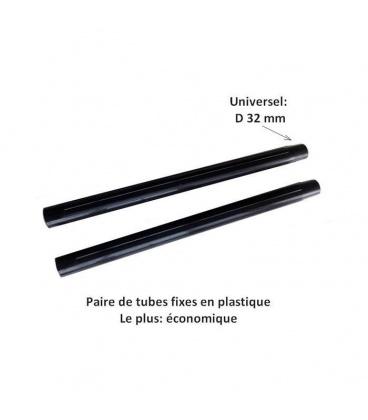 Paire de tubes plastique pour aspirateur