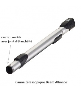 Tube télescopique métal aspirateur Beam Alliance