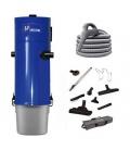Kit aspiration centralisée Unelvent Saphir 700 2 moteurs + flexible inter 9 m + set nettoyage Confort
