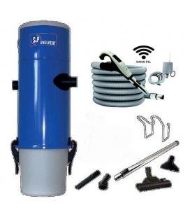 Pack aspirateur centralisé Unelvent SAPHIR 350 N flexible RADIO