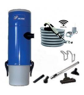 Pack aspirateur centralisé S et P Unelvent SAPHIR 250 SAC avec commande RADIO