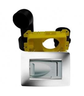 Kit prise rectangulaire design Gewiss blanc pour tube 50