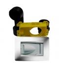 Kit prise aspiration rectangulaire design Gewiss blanc D50