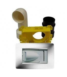 Kit prise aspiration rectangulaire design Gewiss blanc pour tube 51
