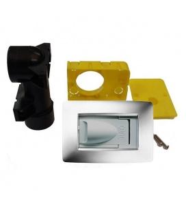 Kit prise aspiration design Gewiss blanc D40 spécial cloison placo
