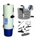 Kit aspirateur centralisé 2 moteurs C500 Aertecnica avec flexible variateur