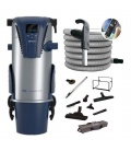 Kit aspiration centralisée Aertecnica TP2 + flexible 9M variateur + set Confort