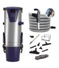 Kit aspiration centralisé Aertecnica TP3 flexible variateur Power Control et set Tubo Confort