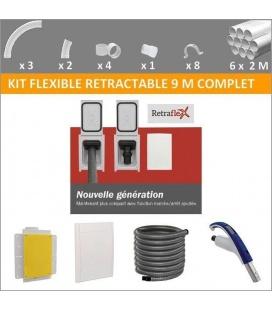 Kit flexible rétractable 9 M complet avec prise Retraflex