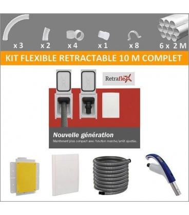 Kit flexible rétractable 10 M complet avec prise Retraflex