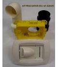 Kit prise rectangulaire blanche D51 620345 Saphir Unelvent