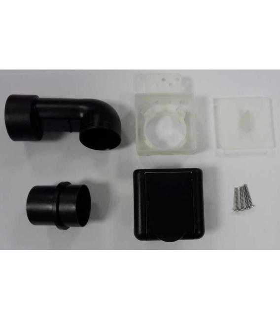 Kit prise Square D50 noir complet