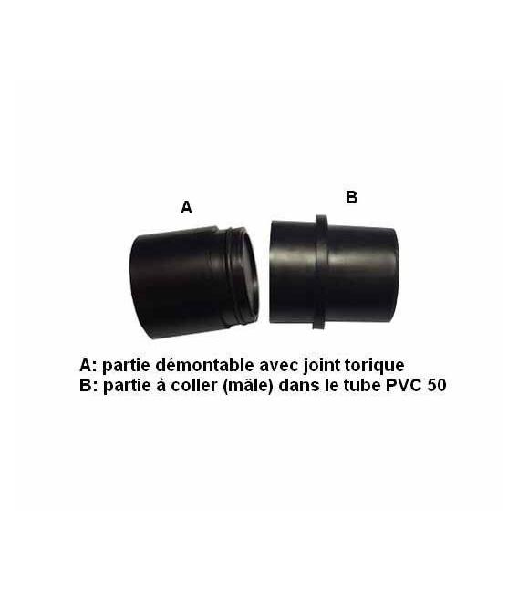Bouchon de visite pour tube PVC D50