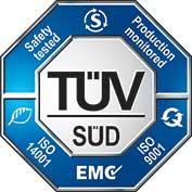 Certification TUV ISO 9001 et ISO 14001